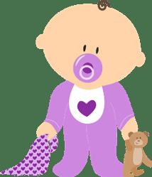 bebé con babero