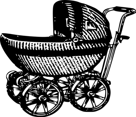 carrito de bebé negro