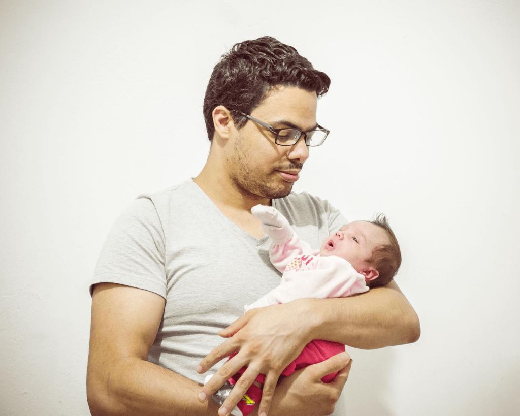 bautizo bebé más padre